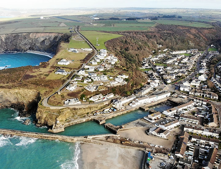Aerial picture of Portreath